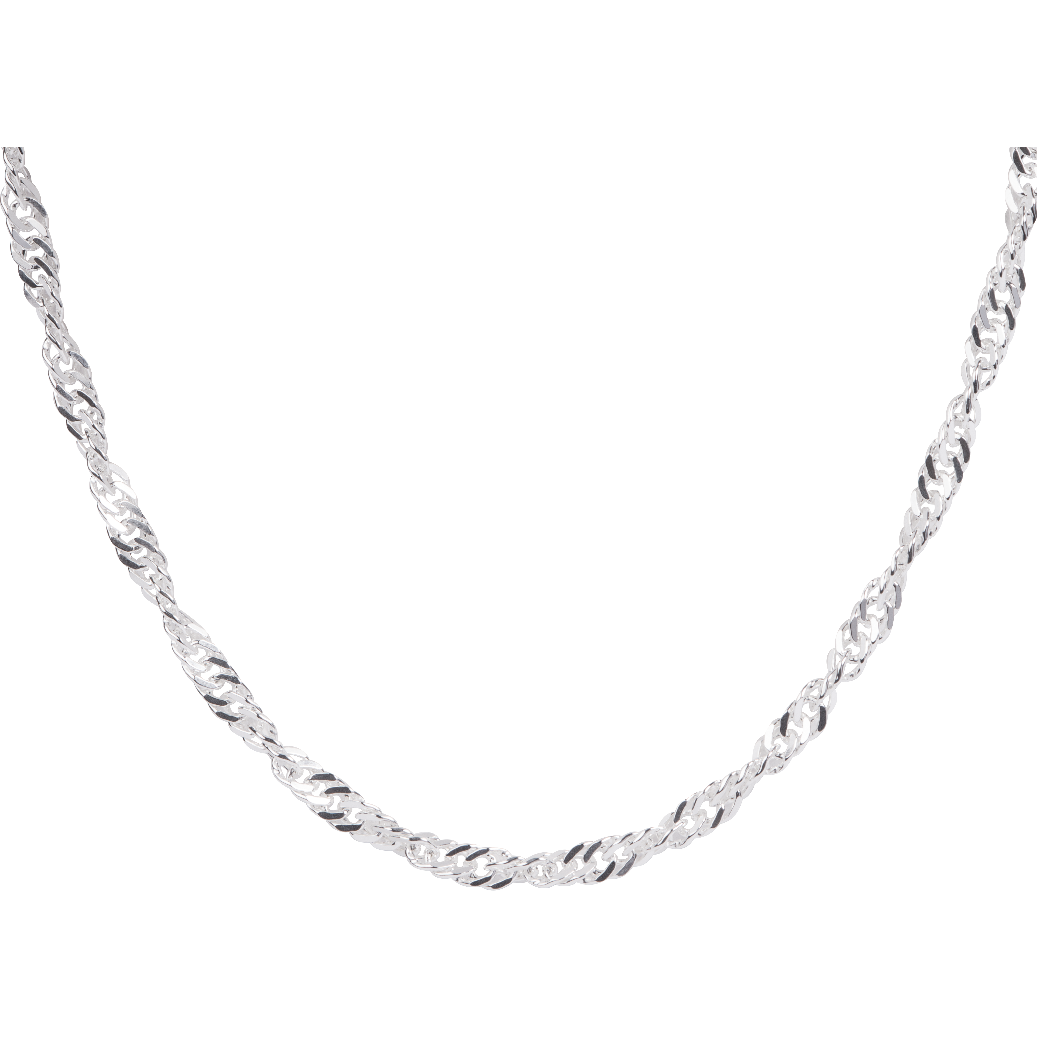 STERLING SILVER SINGAPORE CHAIN.