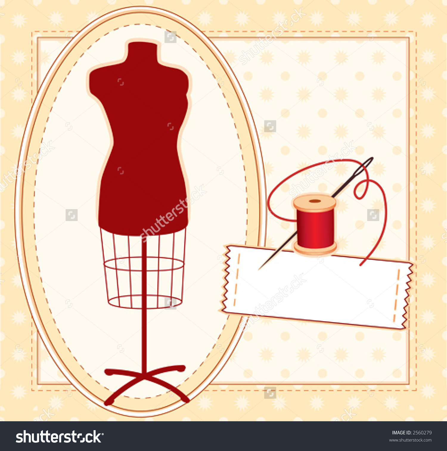 Fashion Model Sewing Label Copy Space Stock Vector 2560279.
