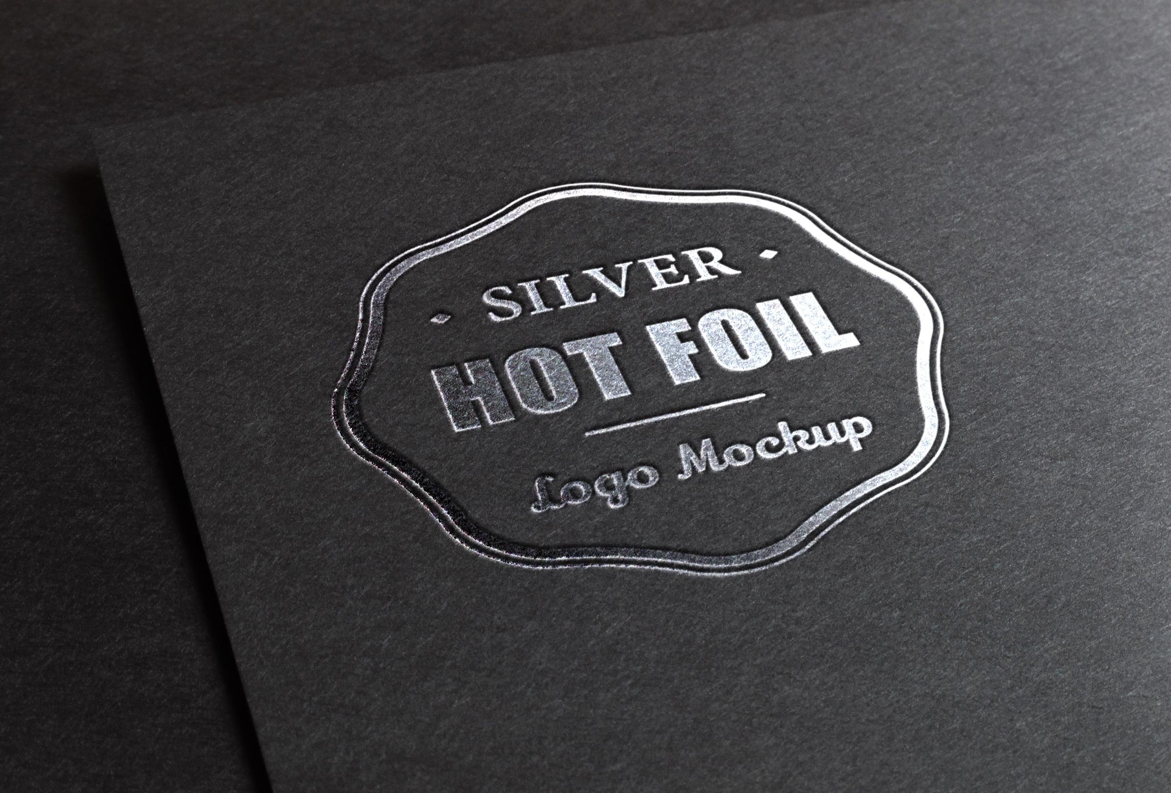 Silver Stamping Logo MockUp.