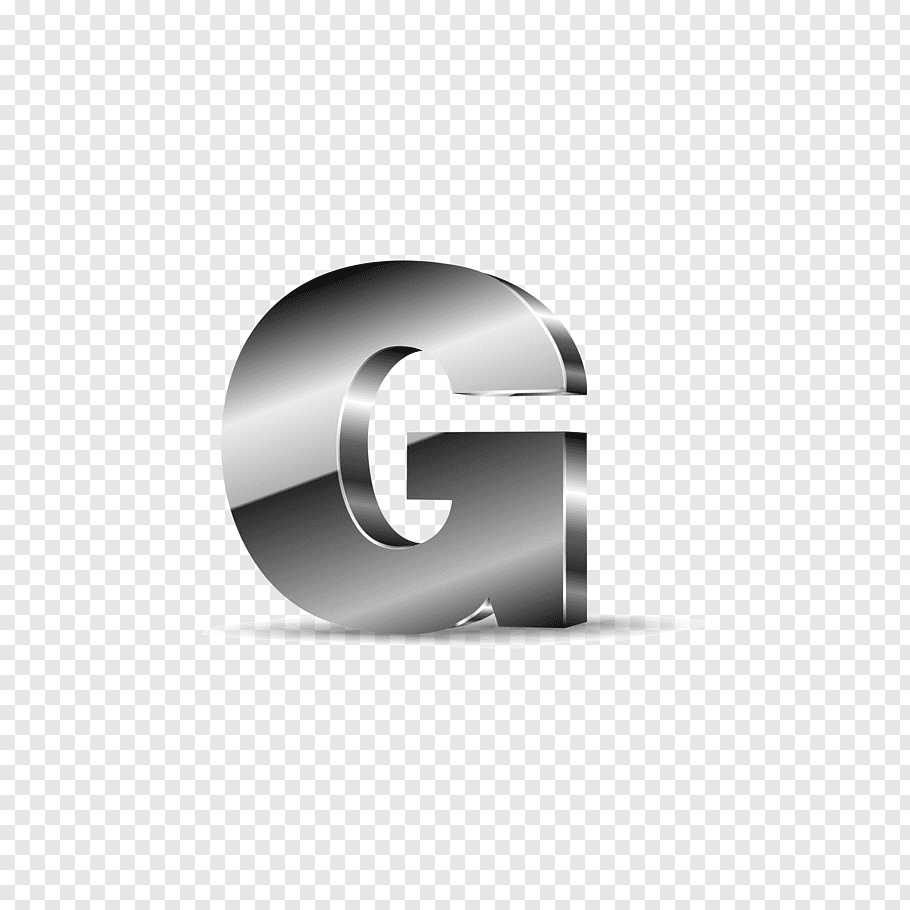 Silver G logo, Letter G, Silver black letters G free png.