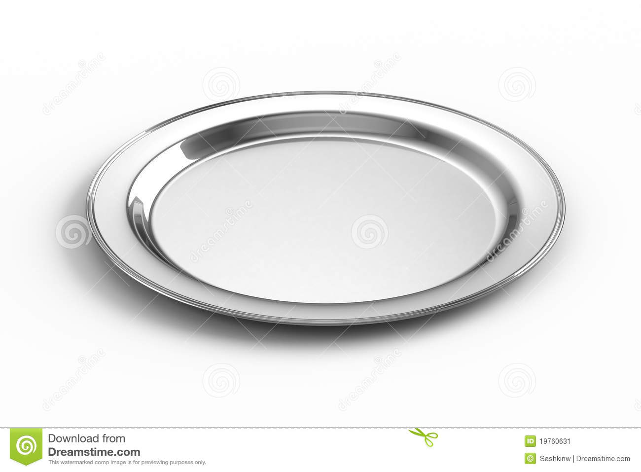 Silver food plate clipart.