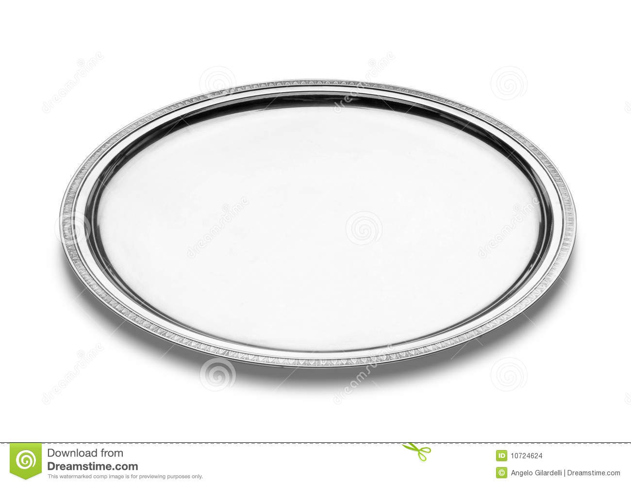 Silver Plate Stock Images.
