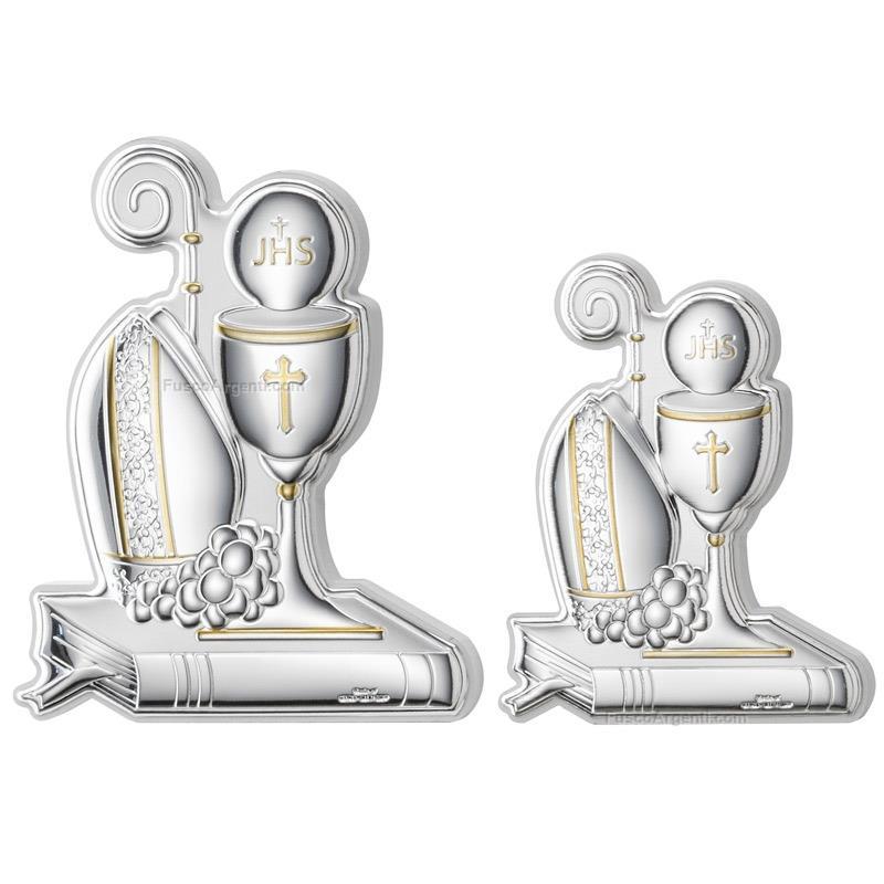 Confirmation and communion icon valenti & co. cm 8x9 silver.