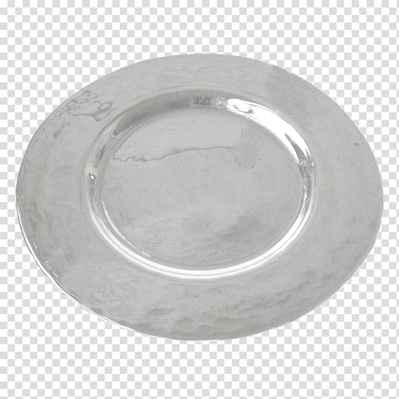 Silver Platter Circle, silver transparent background PNG.