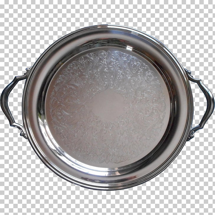 Silver Tray Platter Plating Creamer, silver PNG clipart.