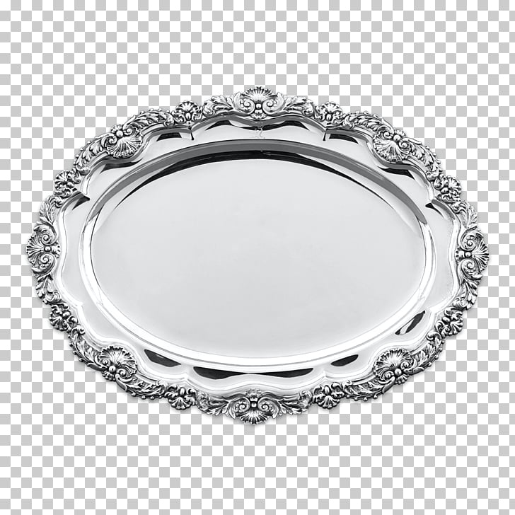 Silver Dish Meat Tray Platter, silver PNG clipart.