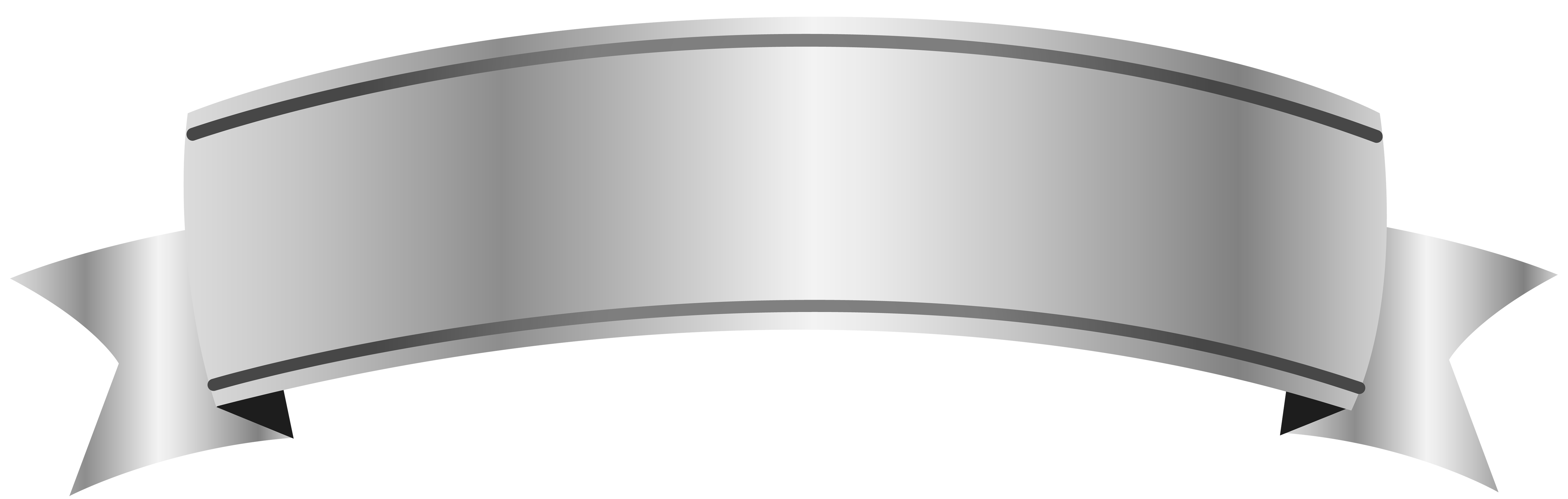 Silver Banner PNG Image.