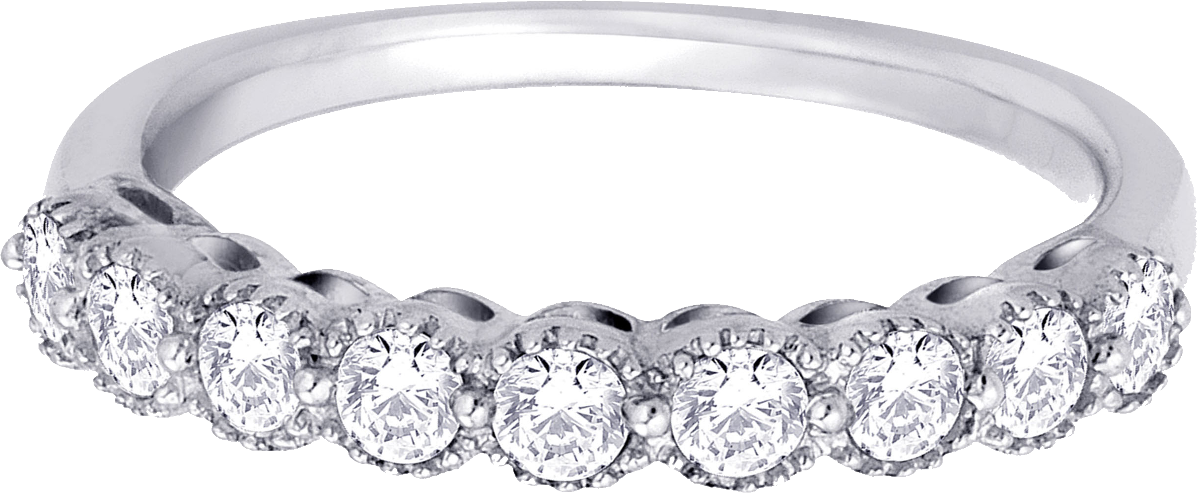 Silver Ring With Diamond PNG Image.