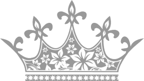 Silver Princess Crown Clipart.