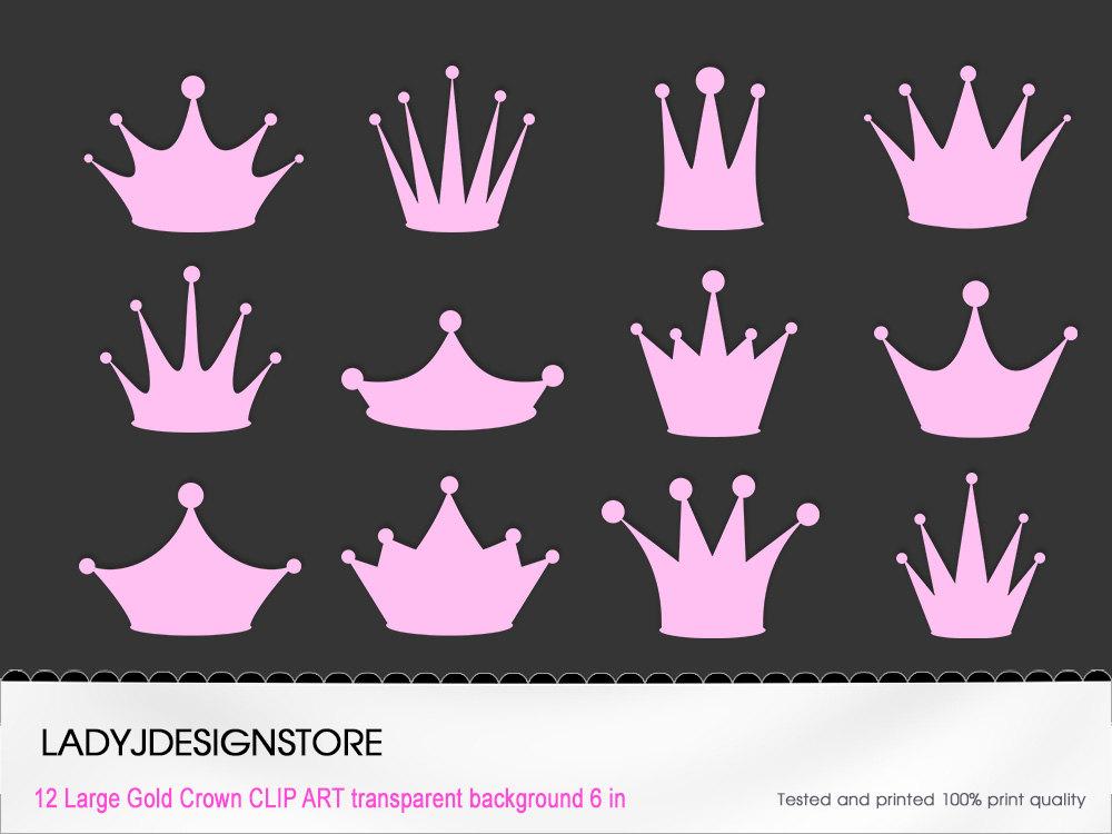 Pink Princess Crown Clip Art 12 Digital Clipart Pink Crowns.
