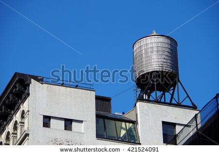 Old Water Tower Stock Photos, Royalty.
