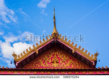 Thai Roof Stock Photos, Royalty.