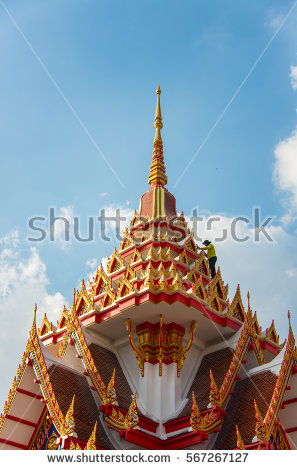 Thai Roofs Stock Photos, Royalty.