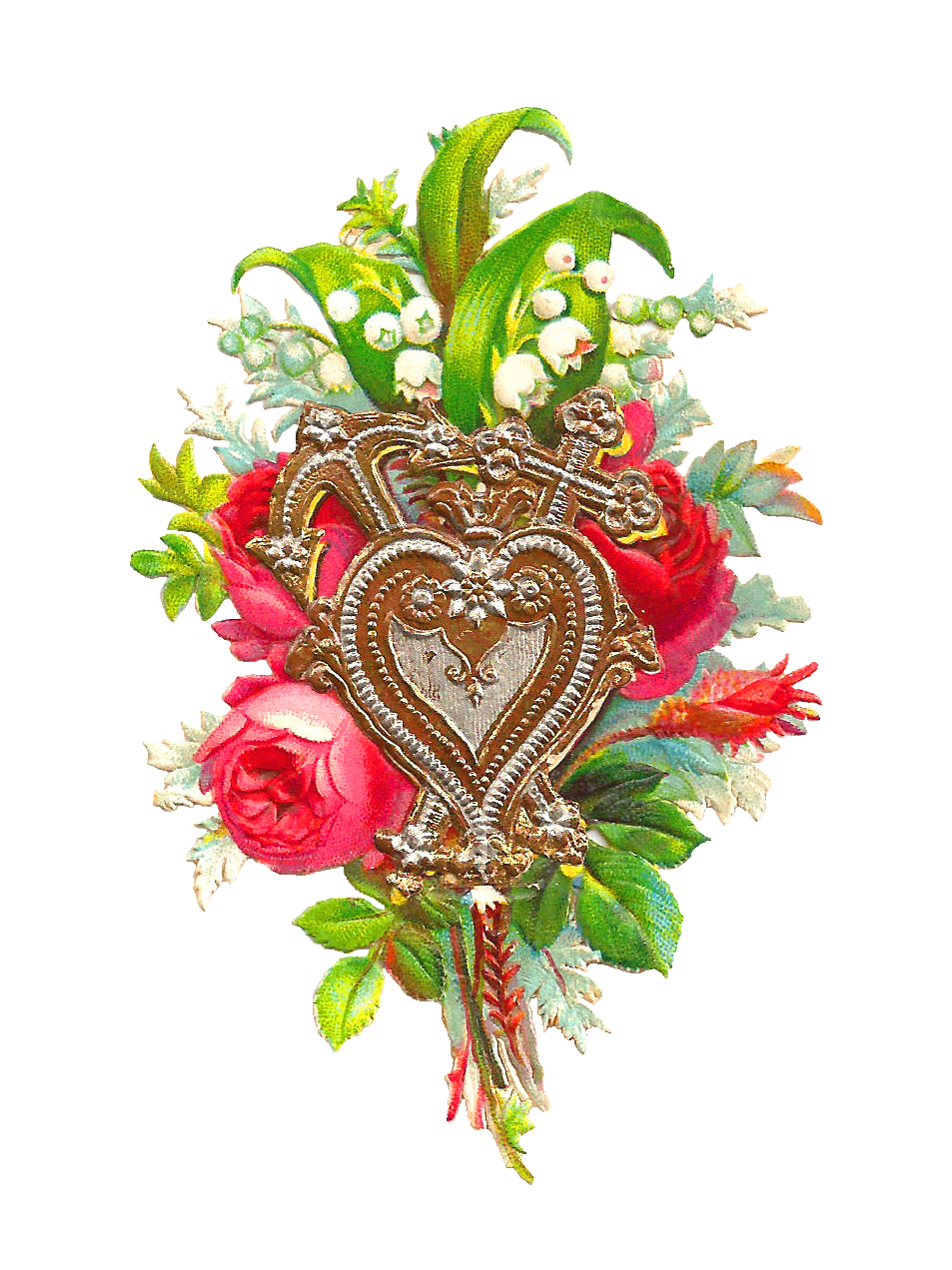Silver roses clipart - Clipground