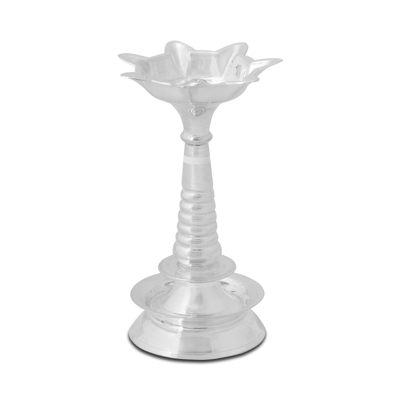 Traditional Silver Diya.