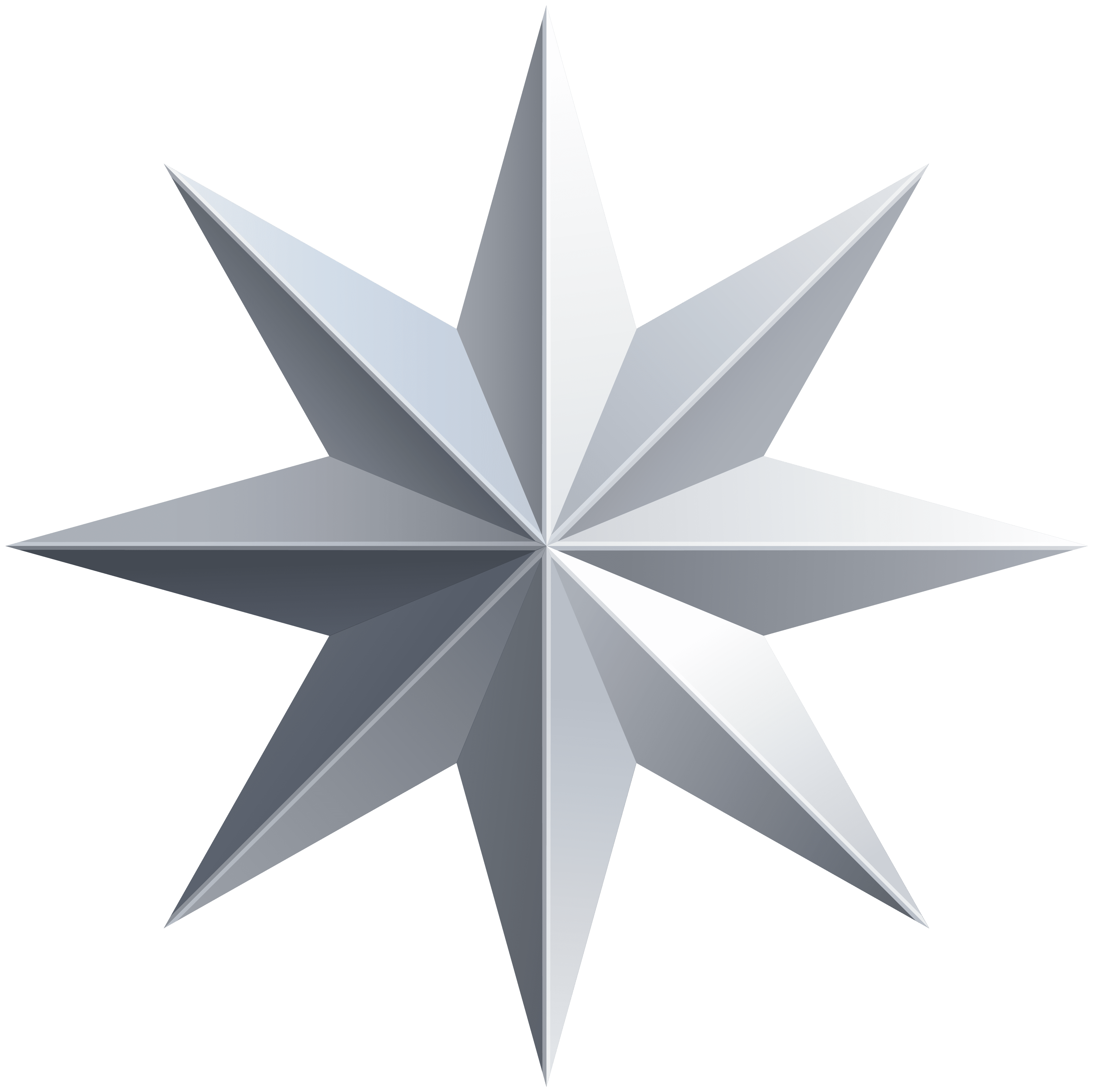 Silver Star Transparent PNG Image.