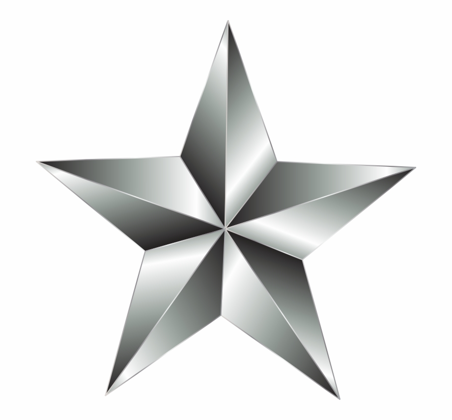 Silver Star Png , Png Download.
