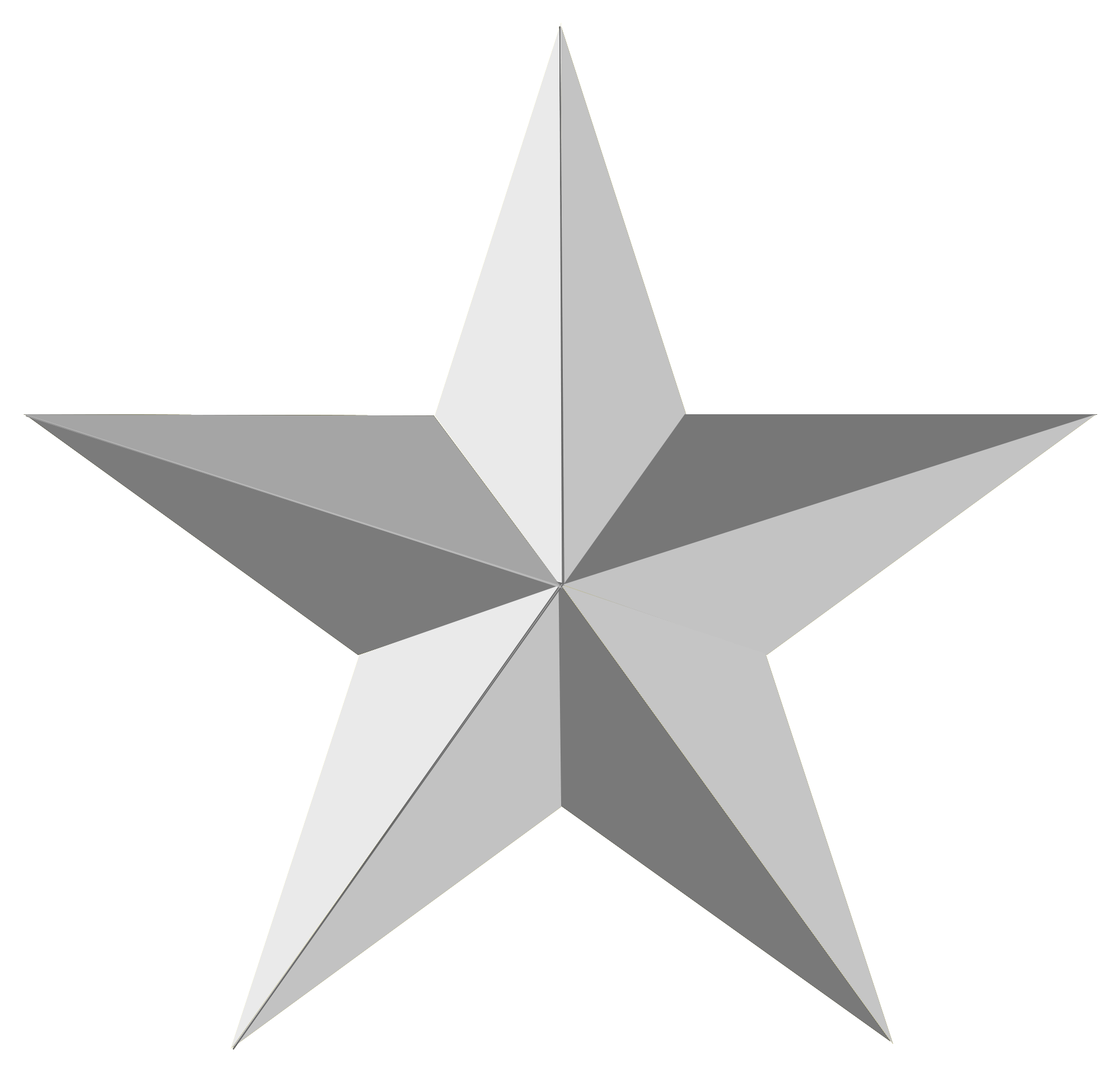 Silver Star Png 6.