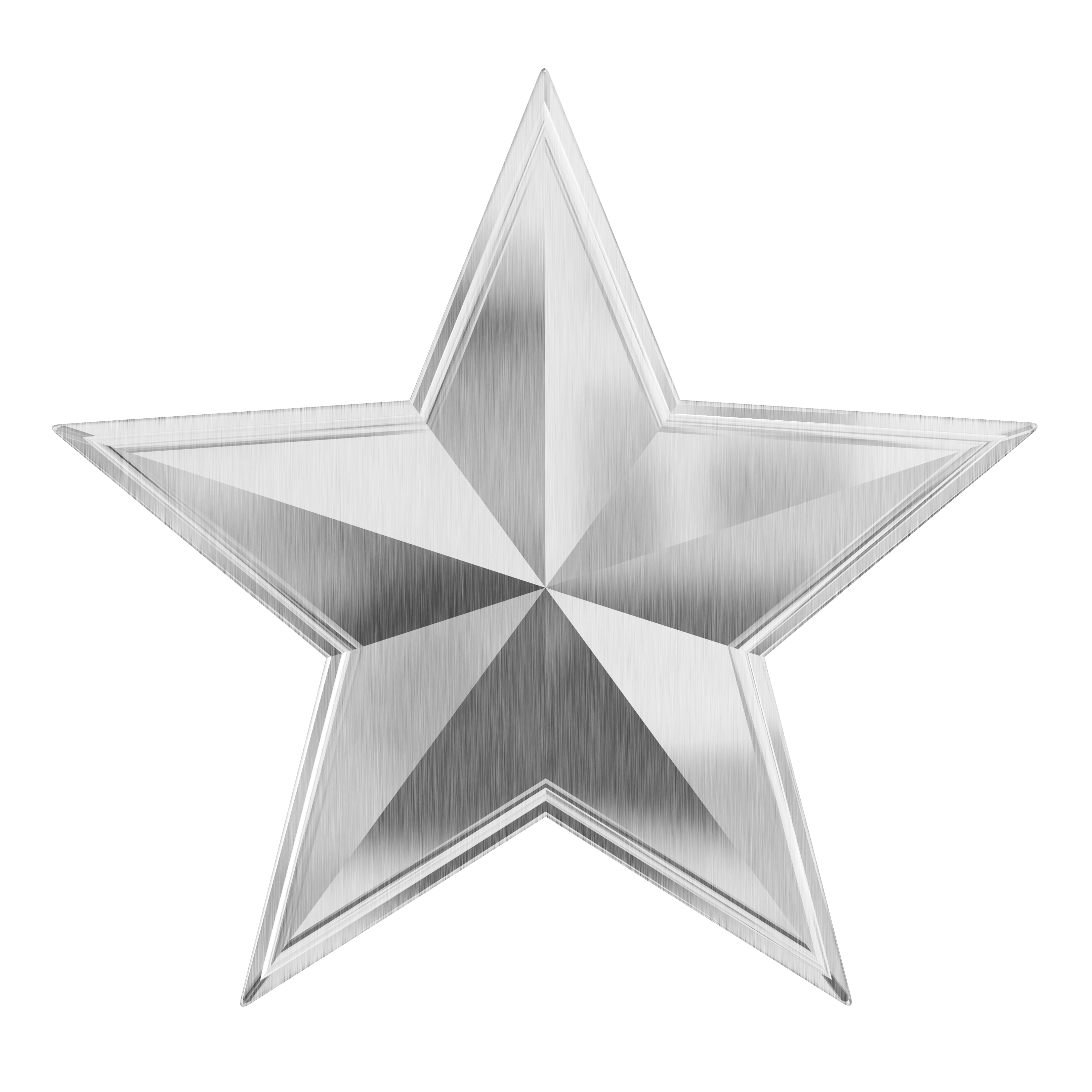 Silver Star PNG Image.