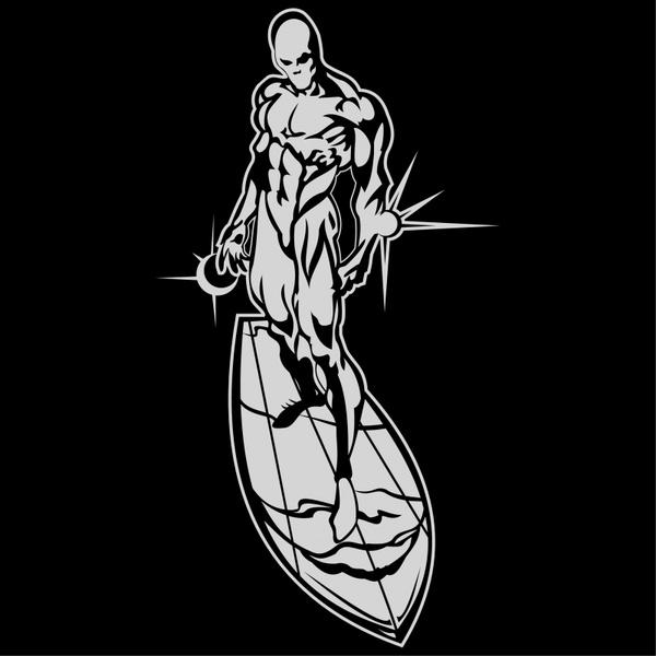 Silver surfer Free vector in Encapsulated PostScript eps.