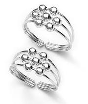 Silver Ball Toe Ring.