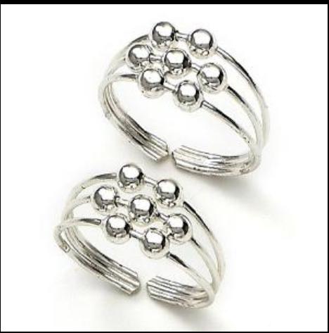 Silver Toe Rings.