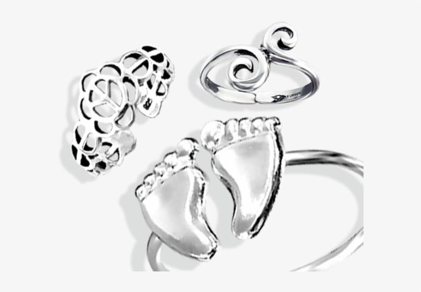 Plain Silver Toe Rings.