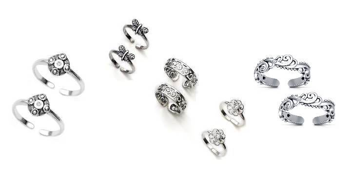 Sterling Silver Toe Rings for Sale in Web Stores Worldwide.