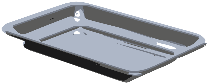 Free Clipart: Silver Tray.