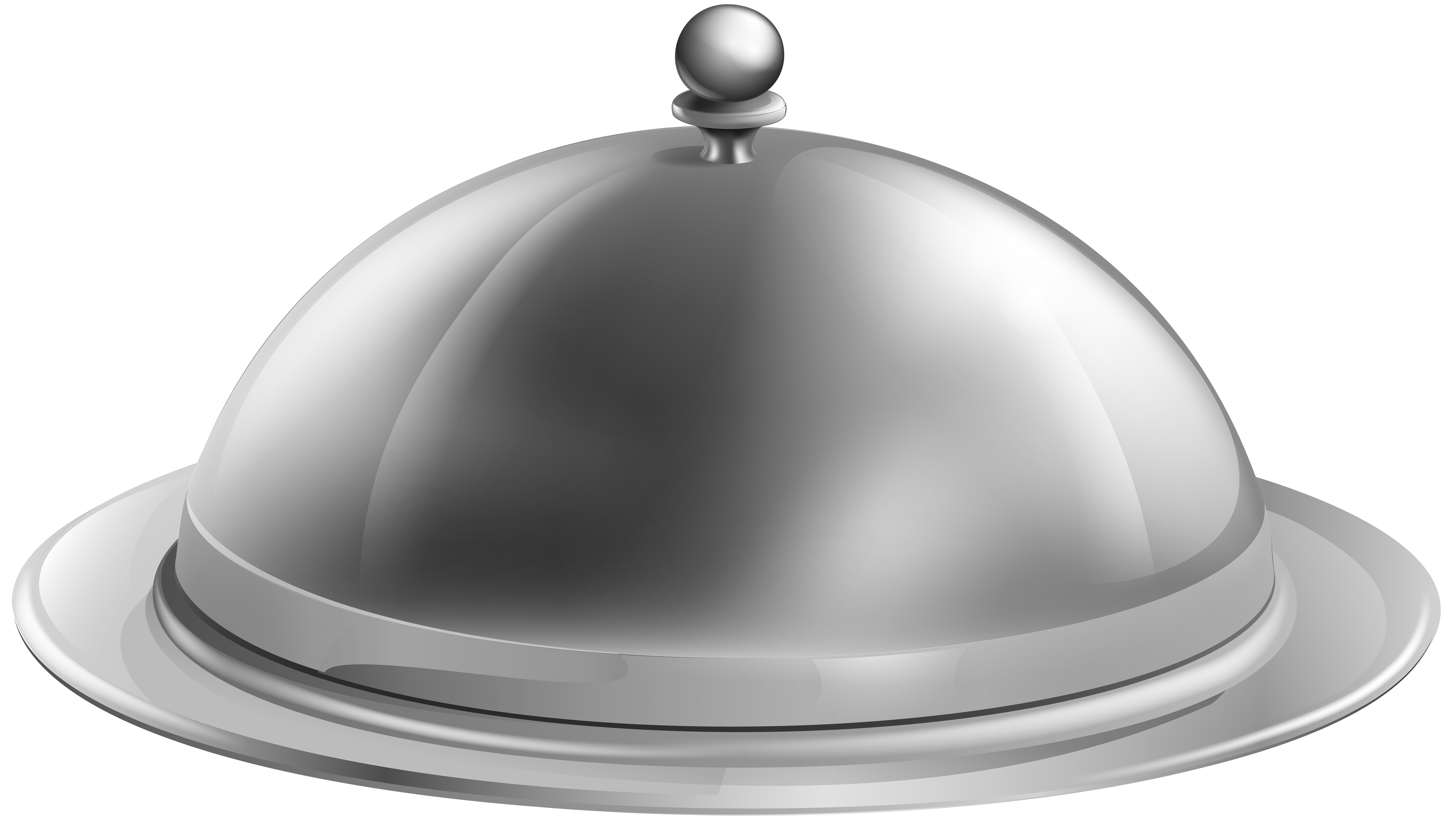 Silver Serving Tray PNG Clip Art.