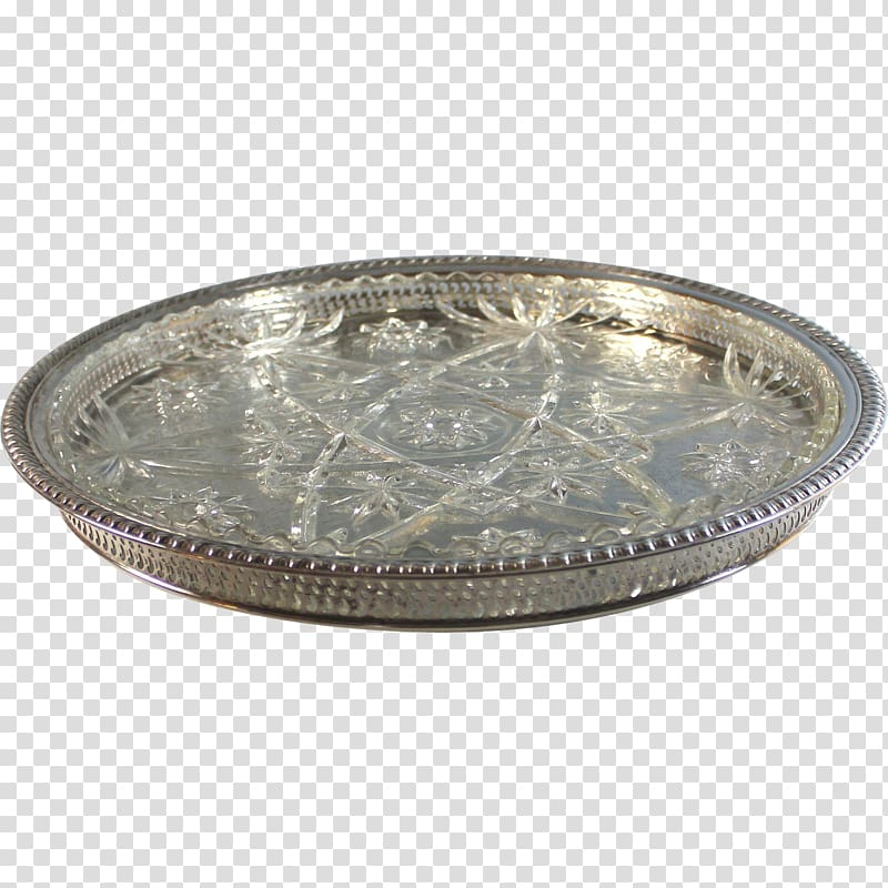 Silver Tray Platter Glass Plate, plates transparent.