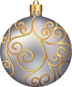 Large Transparent Christmas Ball Ornament PNG Clipart.