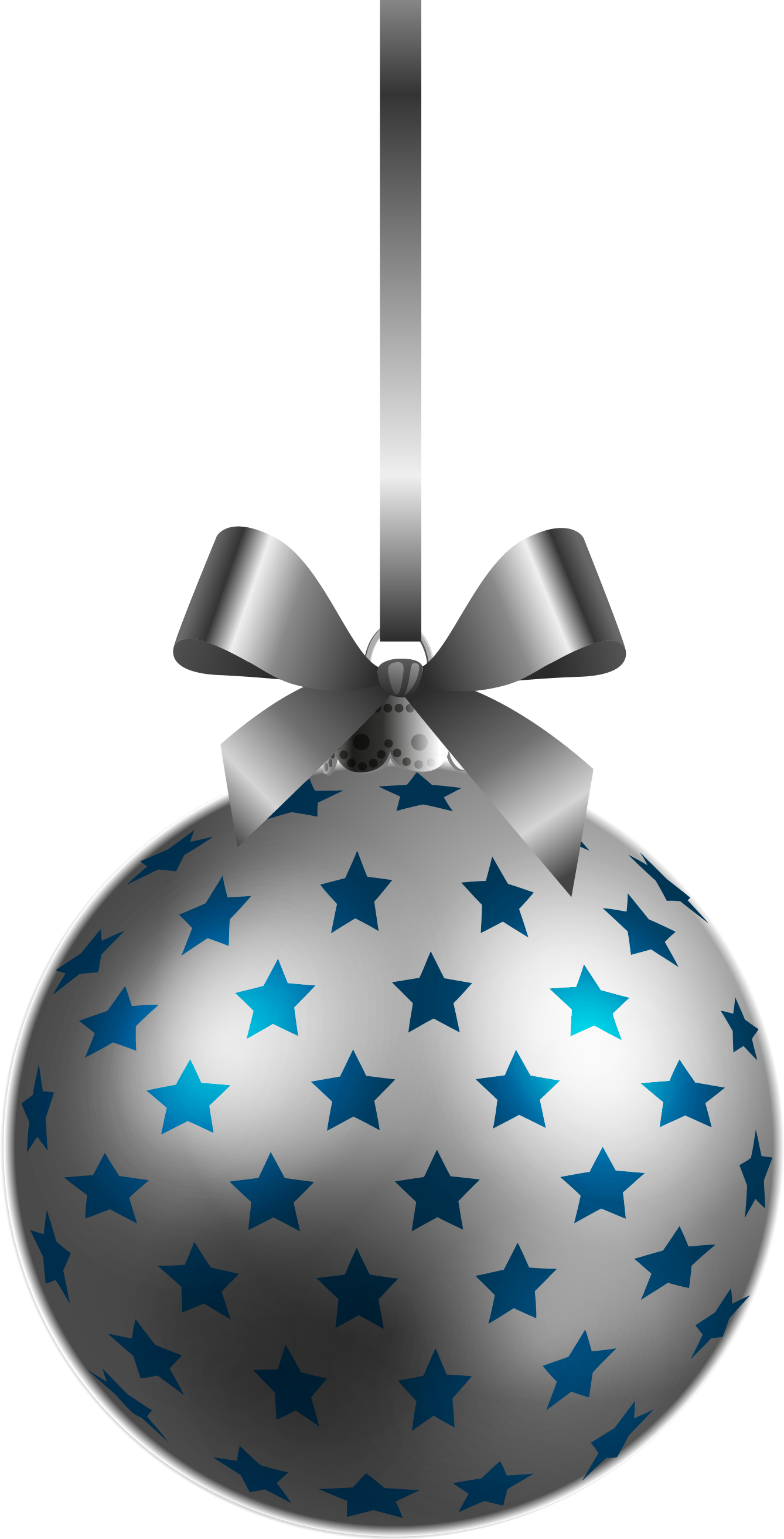 Silver Christmas Balls Clip Art.