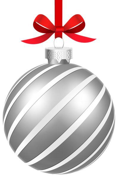 Silver Tree Ornament Clipart.