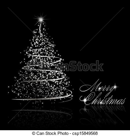 Black Clipart With Silver Trees.