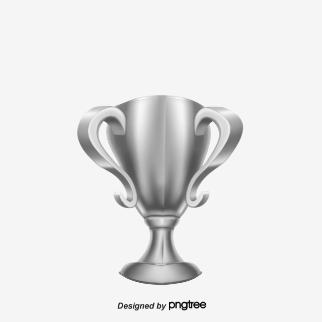 Silver Trophy, Cup, Silver, Vector PNG and Vector with.
