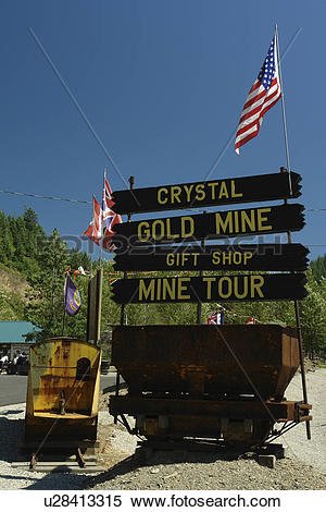 Stock Image of Kellogg, ID, Idaho, Silver Valley, Crystal Gold.