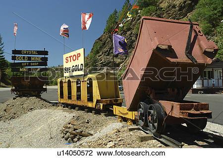 Stock Photo of Kellogg, ID, Idaho, Silver Valley, Crystal Gold.