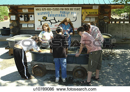Stock Images of Kellogg, ID, Idaho, Silver Valley, Crystal Gold.
