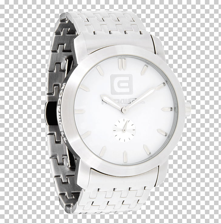 Silver Watch Material White Stainless steel, silver PNG.
