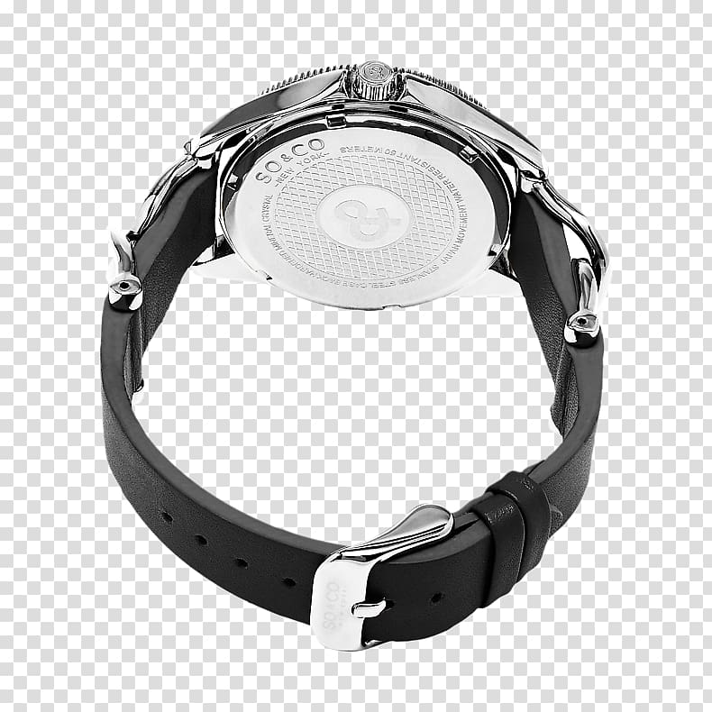 Silver Watch strap, silver transparent background PNG.