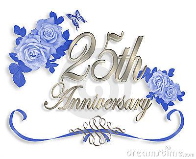 Silver Wedding Anniversary Clipart