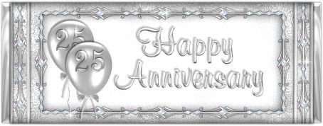 Silver wedding anniversary clip art.