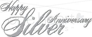 Happy Silver Anniversary Clipart.