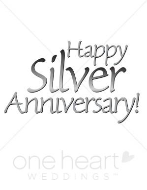 Silver Anniversary Clipart.