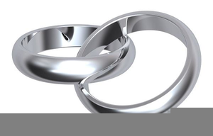 Silver Wedding Ring Clipart.