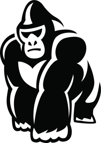 Silverback Gorilla Cartoon Clipart.