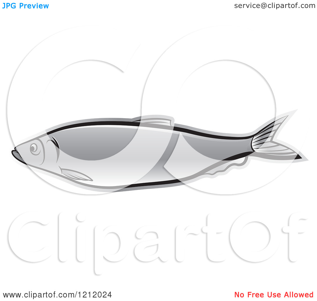 Clipart of a Silver Fish.