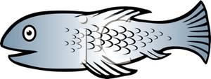 Silver Fish Clipart.