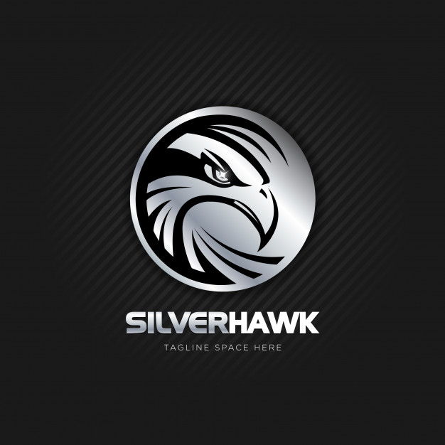 Silver hawk logo design Vector.